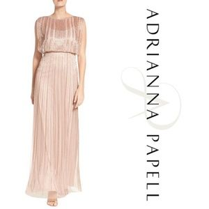 Adrianna Papell Rose Gold Gown
